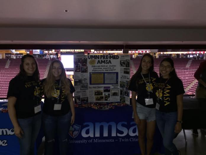 April, Kelsey, Sena, and Karla at Explore U!